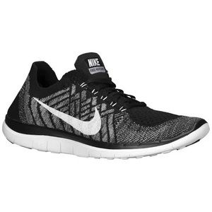 NIKE Free 4.0 Flyknit sneakers white black 9.5